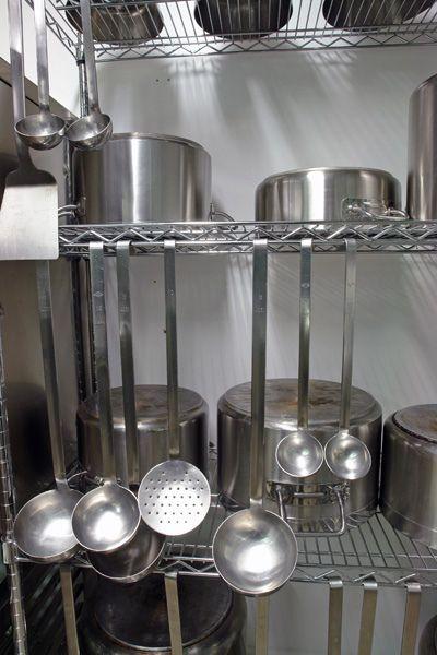 industrial rack professional kitchen soup ladles