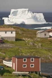 Iceberg in Newfoundland, Canada....yeah they look close to sure - but they can still be a long way out. It's very cool!
