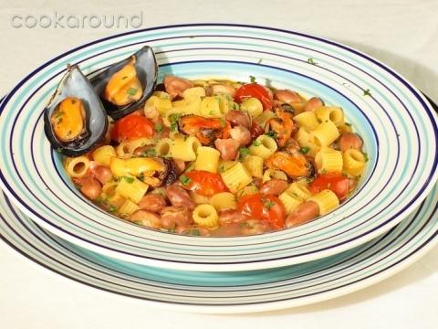 Pasta e fagioli con le cozze   Campania