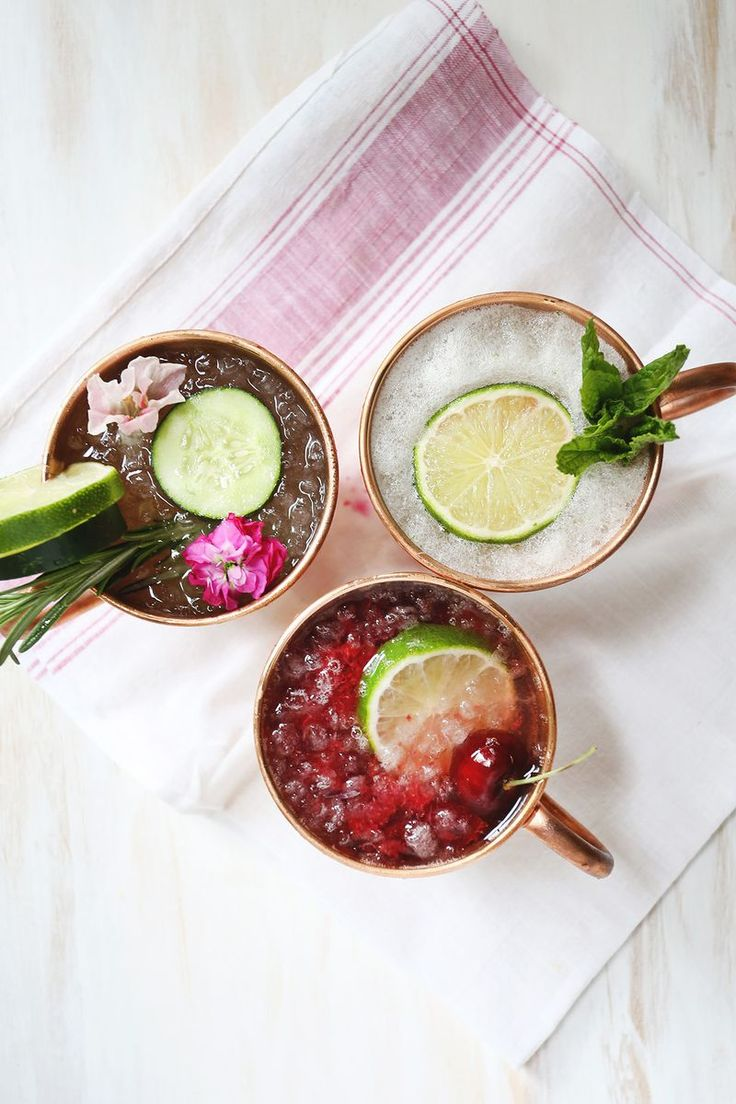 3 twists on the Moscow Mule. Gotta try the smashed cherry recipe SOON!