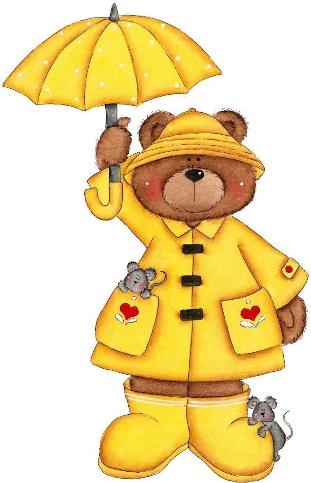 Osito con paraguas