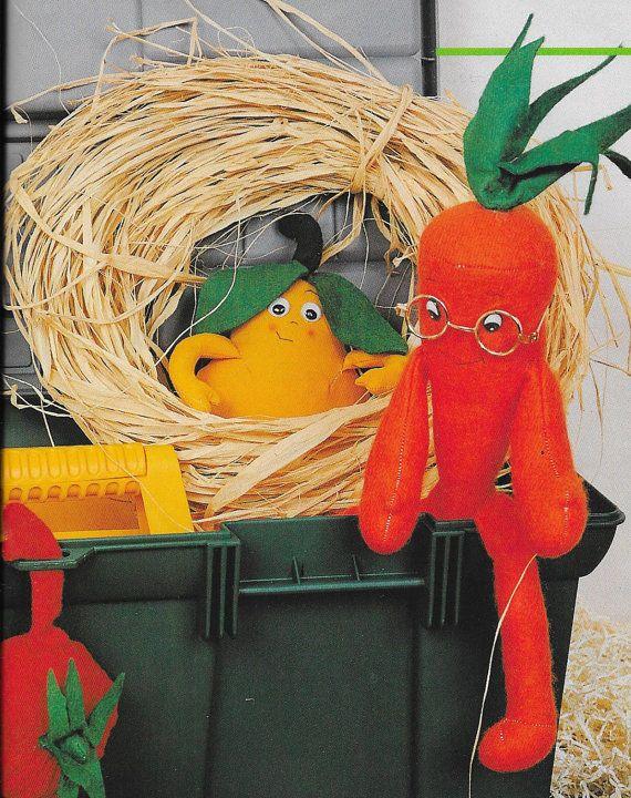 Lovely Vegetables Set PDF Felt Sewing Pattern