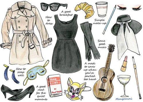 Holly Golightly's belongings <3