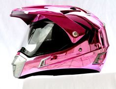 MASEI PINK CHROME 311 ATV MOTOCROSS MOTORCYCLE ICON KTM HELMET