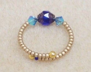 Making a Beaded Memory Wire Ring