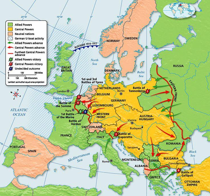 World War 1 World Map