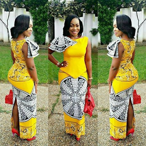 Stylish Yellow Ankara Skirt and Blouse Styles For Ladies - DeZango Fashion Zone