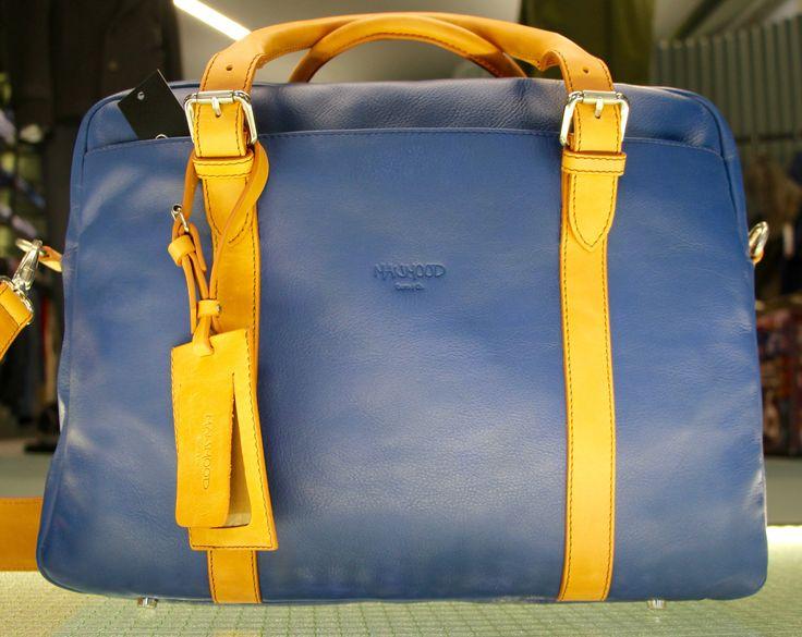 Travel blue leather bag!
