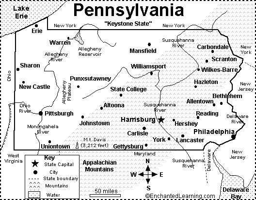 Best 25 map quiz ideas on pinterest geography map quiz united pennsylvania map google image result for httpenchantedlearning sciox Images
