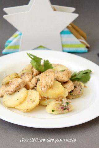 salade de pommes de terre au poulet sauce au thon