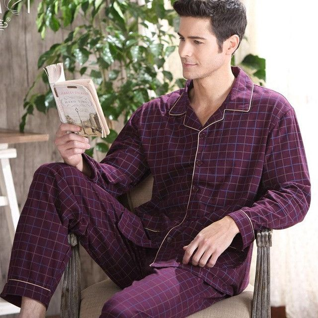 Gadpat 2016 New Autumn Men Pajamas Long Sleeved Trousers Cotton Men's Pajamas Men's Middle-aged Men's Clothing