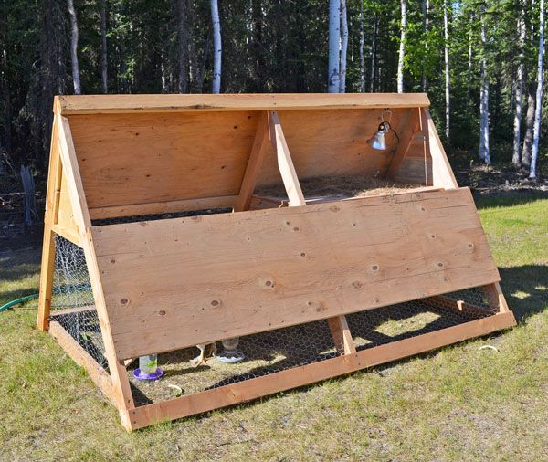 Best 25 a frame chicken coop ideas on pinterest simple for Diy movable chicken coop