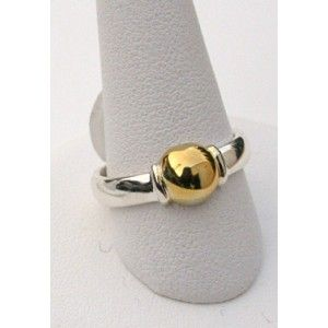 Single Ball Ring, 14k Gold Ball