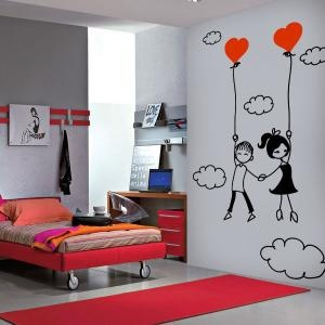 Vinilos Decorativos Románticos Amor En Las Nubes