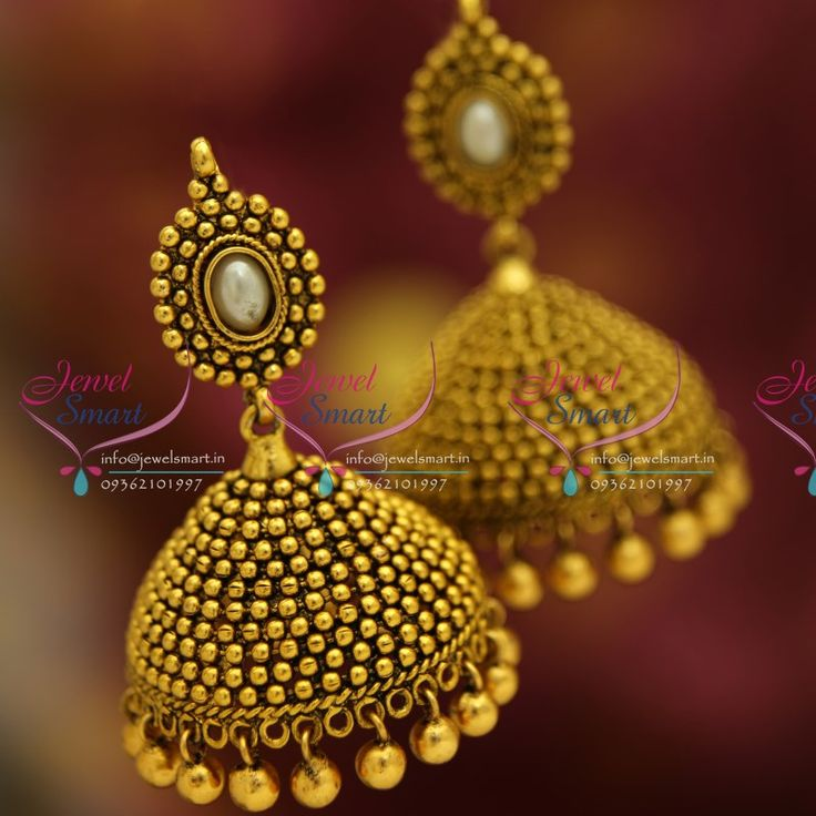 antique-gold-plated-nagasu-nakshi-indian-fancy-floral-design-jhumka-earrings