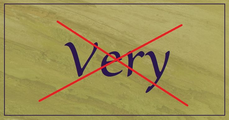 Did you know that the word 'very' is an almost meaningless adjective and/or adverb?  'Very' is the most useless word in the English language and can
