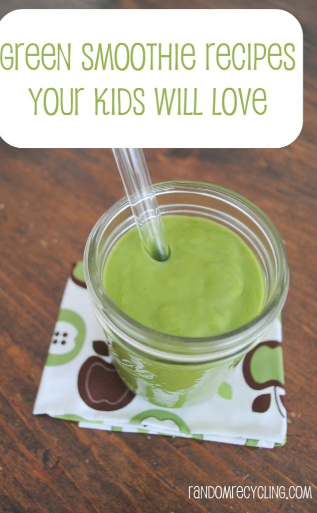 Green Smoothie Recipes Your Kids Will Love. Freeze for lunch boxes!