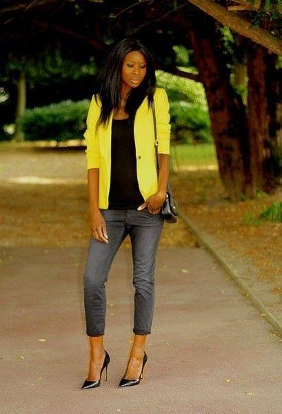 yellow blazer outfits - Google pretraživanje