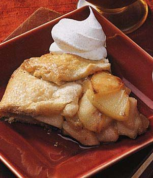 Pear and Apple Crostata with Five-Spice Whipped Cream Recipe at ...