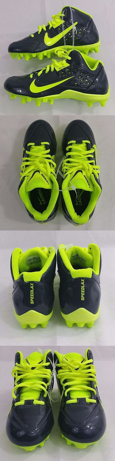 Youth 159118: New Nike Lacrosse Speedlax 4 Dual Pull Black Light Green Youth Cleats Size 4.5Y -> BUY IT NOW ONLY: $34.99 on eBay!