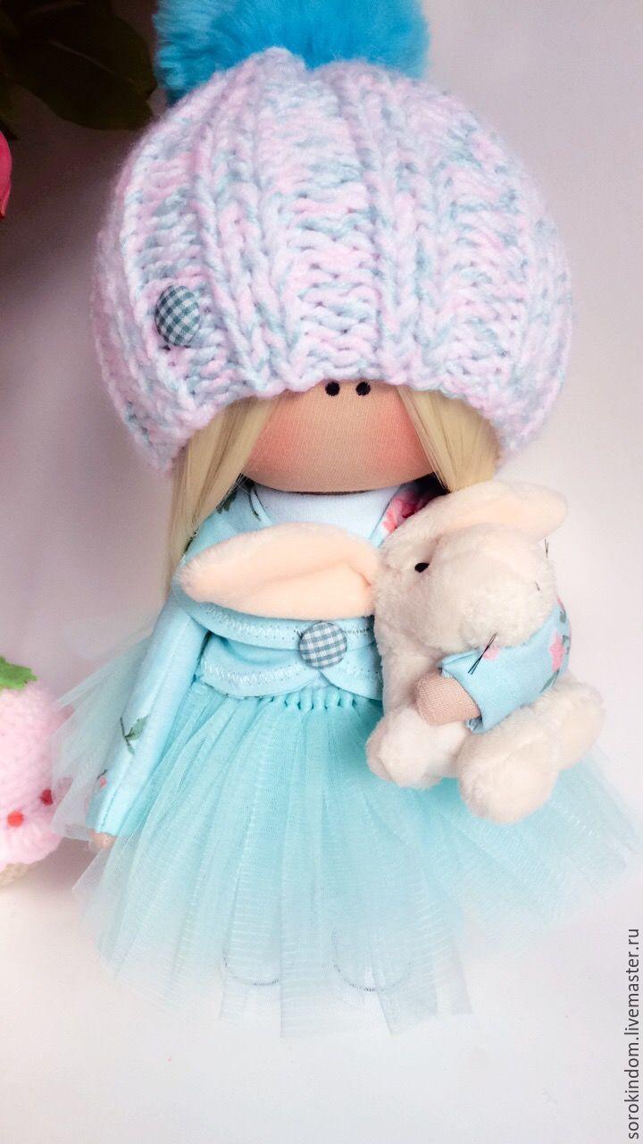 """Купить Кукла интерьерная, текстильная """"Миндальный зефир"""" - мятный, кукла, кукла в подарок, кукла текстильная"""