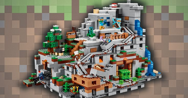 The giant Mountain Cave takes the crown for biggest Lego 'Minecraft' set