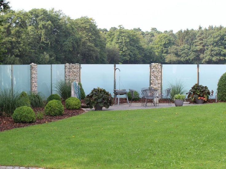 Sichtschutz aus Glas für den Garten Outdoor, Garden arch