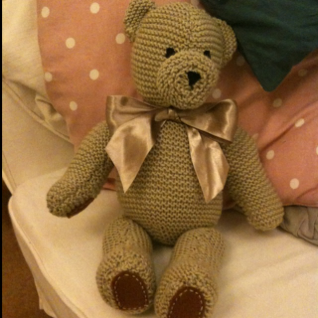 Knitted teddy for my cousins baby
