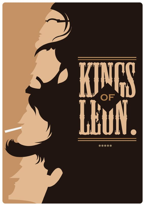 Kings of Leon Print A4 Art Prints Approx 297 x by MrPanesarDesign #illustration #design #print #etsy