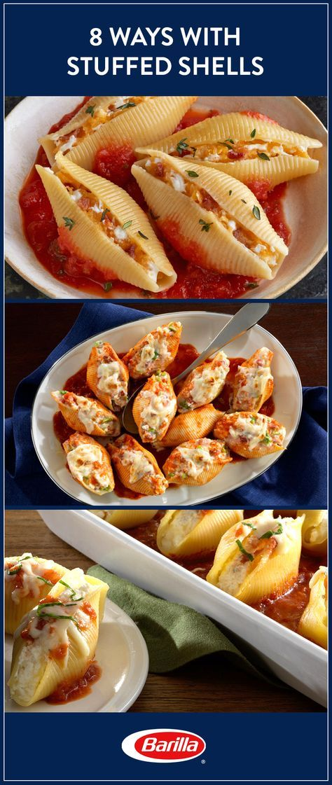 Stuffed shells offer a versatile dinner with endless combinations! Save this guide for eight different ways to stuff shells that will please every person in your family. Sausage, lentils, veggies and so many more options await!