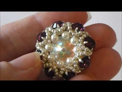 DIY TUTORIAL: ciondolo con perline Twin o Superduo / Pendant with Twin or Superduo beads (bead work) - YouTube