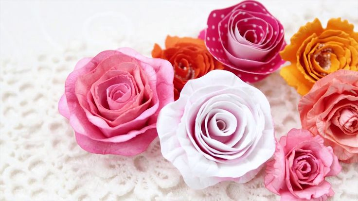 """""""Розы по спирали"""" из бумаги для акварели"""