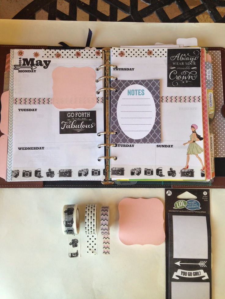 Craft Room Secrets: Filofax Decorated Pages