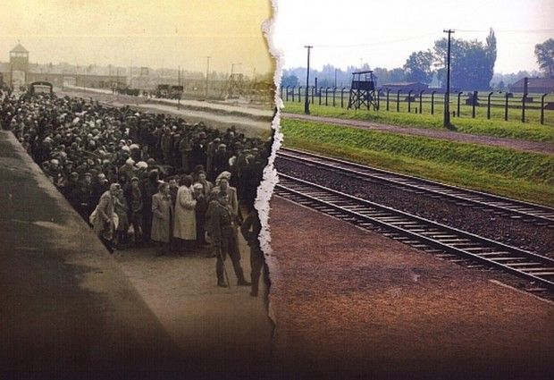 Auschwitz, then and now...70 years ago today...1/27 was liberated by Russia.