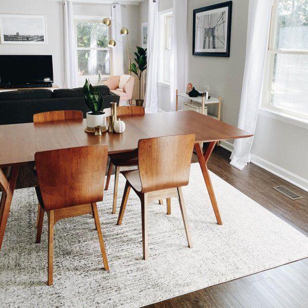 Mid Century Expandable Dining Table Walnut Midcentury Modern