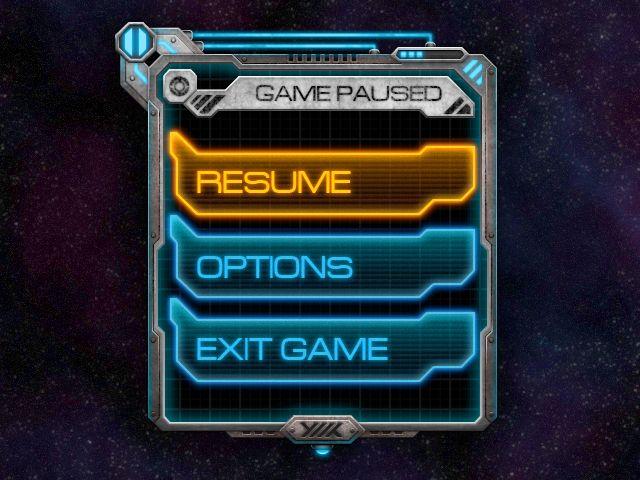 Sci-fi pause menu