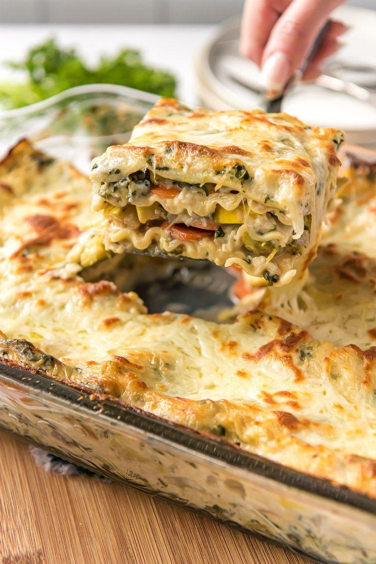 Vegetable Lasagna recipe from Garden Vegetable Lasagna recipe from Vegetable Lasagna Recipes, Vegetable Lasagne, Vegetarian Recipes, Cooking Recipes, Vegetarian Lasagna Spinach, Meatless Lasagna Recipe Easy, Garden Vegetable Recipes, Vegan Lasagna Recipe, Lasagne Recipes
