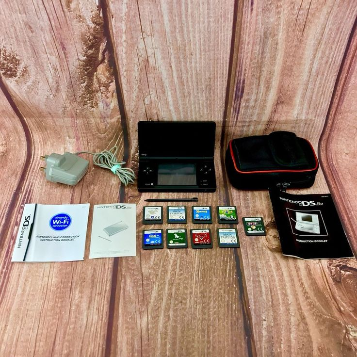 Nintendo Dsi console Bundle 9 Games Case Charger manuals Booklets Stylus 🎁 Gift