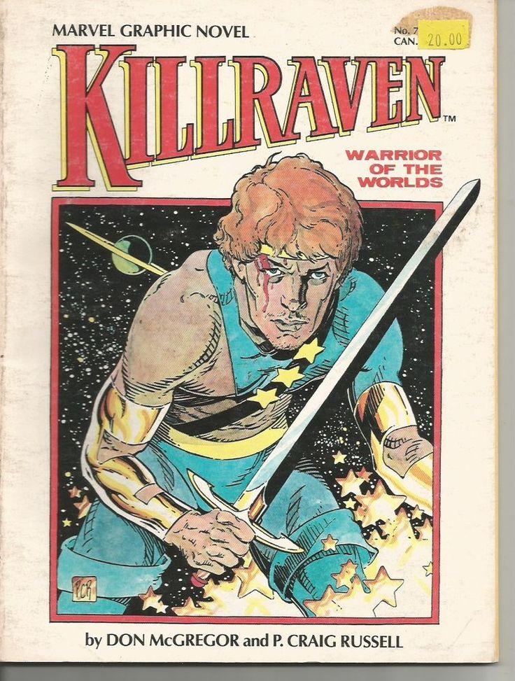"KILLRAVEN Marvel Graphic Novel #7 Marvel Comics P. CRAIG RUSSELL --8 1/2"" x11"""