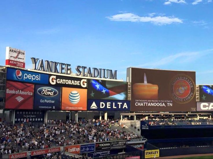 Yankee Stadium showing support for Chattanooga. — WRCB Channel 3 Eyewitness News