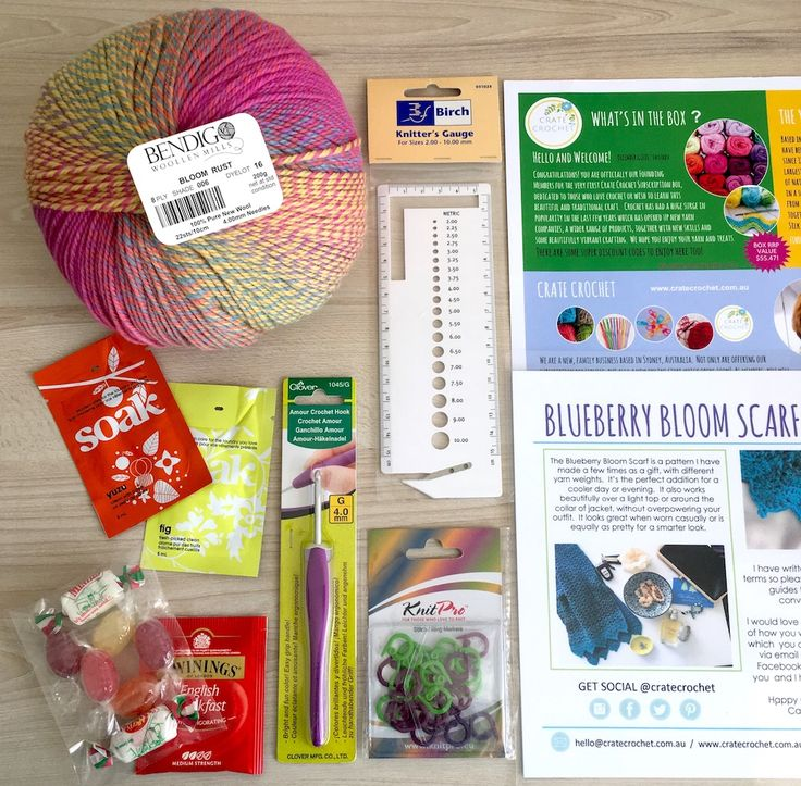 Want to get a monthly box of crochet goodness delivered to your door?  check out Australia's Crate Crochet. #crochet