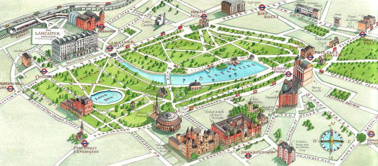 London Hyde Park map - Central London Uk • mappery