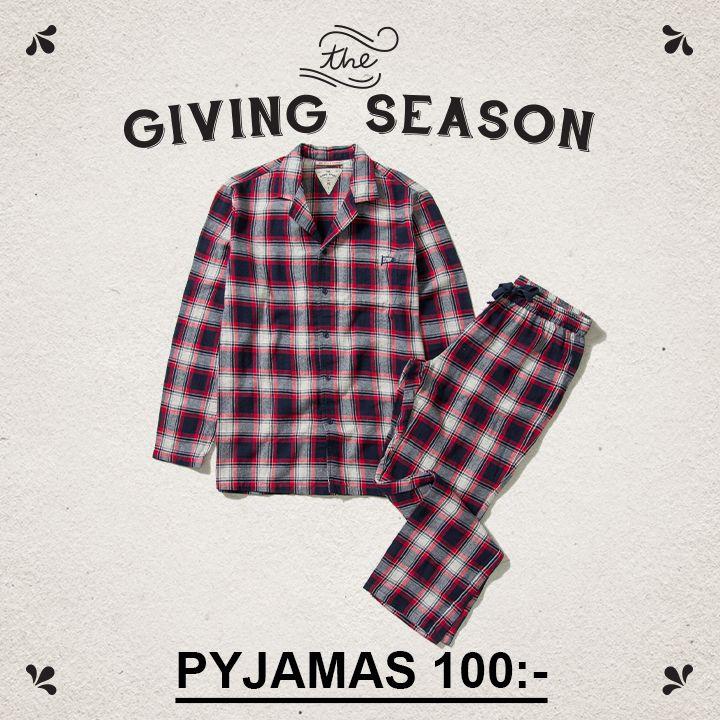 Flanell pyjamas 100:-