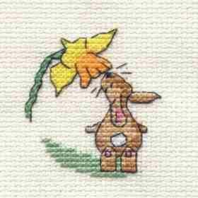 Springtime Bunny Cross Stitch Kit: Cross stitch (Mouseloft, 014-647stl)