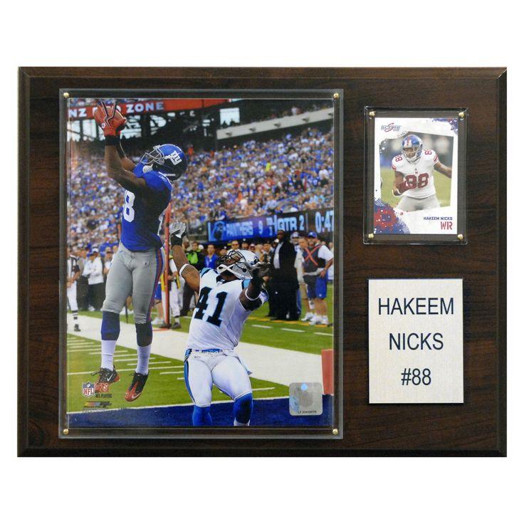 NFL 12 x 15 in. Hakeem Nicks New York Giants Player Plaque - 1215NICKS