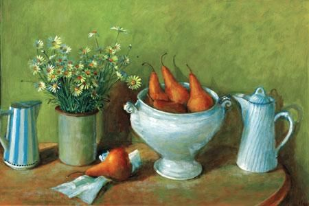 Margaret Olley, Daises and pears, c. 1978