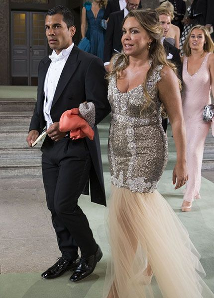 "Anderson Zapata og Josephine Zapata Génetay, the goddaughter of Queen Silvia, leave the Royal Chapel after the wedding ceremony; wedding of Princess Madeleine of Sweden and mr. Christopher ""Chris"" O'Neill in Stockholm, June 8th 2013"