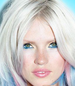 groene eyeliner met gouden oogschaduw