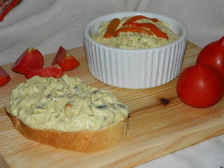 Salata de vinete cu ardei si ciuperci a la Gaby