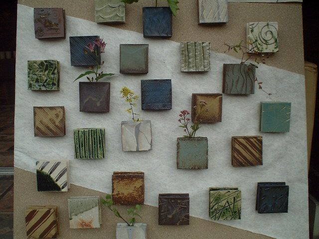Square Wall Vases. Ceramic Wall ArtCeramic ...